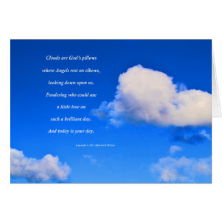 """Clouds #57"" with poem: God's Pillows Card"
