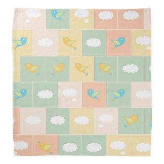 Clouds and birds bandana