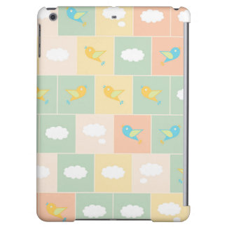 Clouds and birds iPad air cases