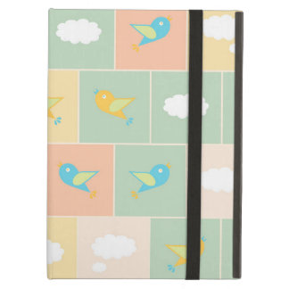 Clouds and birds iPad air covers