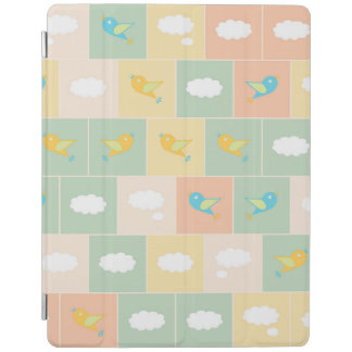 Clouds and birds iPad cover