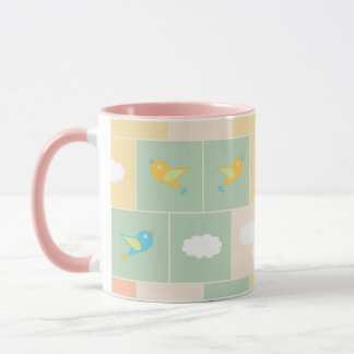 Clouds and birds mug