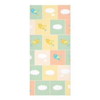 Clouds and birds rack card