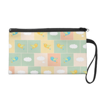 Clouds and birds wristlets