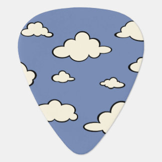 CLOUDS AND BLUE SKY GRAPHIC PATTERN GUITAR PICK