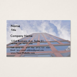 Clouds And Building Business Card