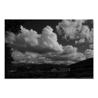 Clouds and country poster