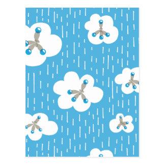 Clouds And Methane Molecules Blue Chemistry Geek Postcard