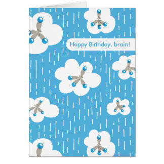 Clouds And Methane Molecules Geek Happy Birthday Card