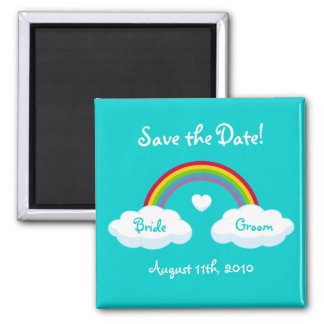 Clouds And Rainbow - Save the Date magnet