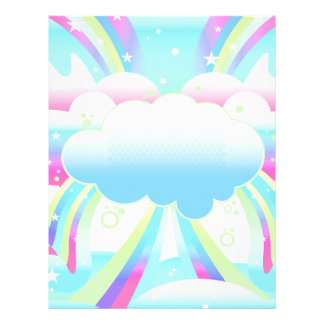 clouds and rainbow sky paper