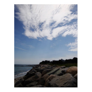 Clouds and Rocks, Cape Cod Postcard