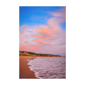 Clouds and Sea in harmony greetings card. Canvas Print
