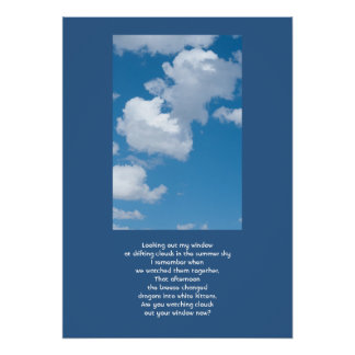 Clouds and Sky Thinking About You Poster