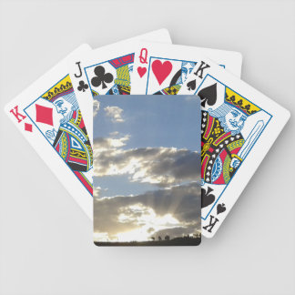 Clouds And Sun Bicycle Playing Cards