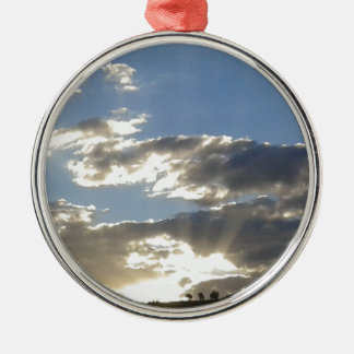 Clouds And Sun Metal Ornament