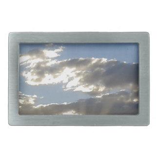 Clouds And Sun Rectangular Belt Buckle
