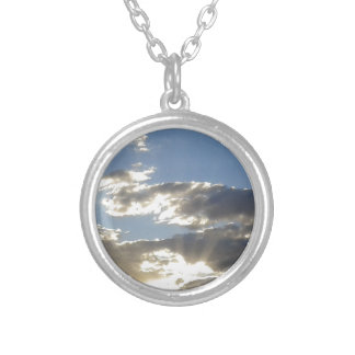 Clouds And Sun Silver Plated Necklace