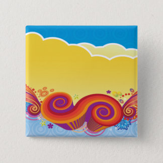 clouds and swirls 2 inch square button