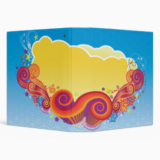 clouds and swirls notebook 3 ring binder
