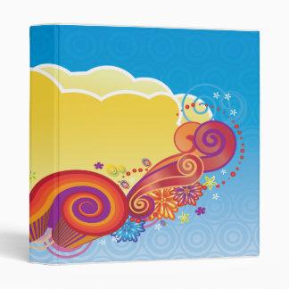 clouds and swirls notebook binder