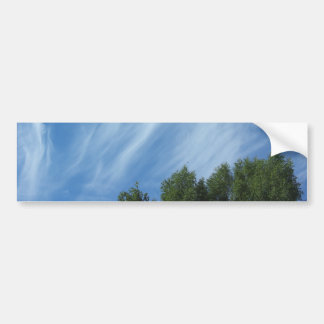 Clouds and trees bumper sticker