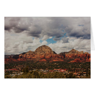 Clouds as they roll into Sedona Card