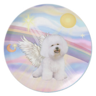 Clouds - Bichon Frise Angel (#1) Party Plates