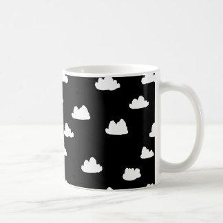 Clouds / Black/White Scandi / Andrea Lauren Coffee Mug