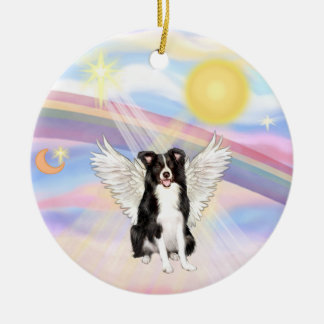 Clouds - Border Collie Ceramic Ornament