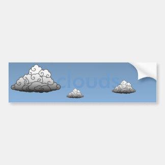 Clouds Bumper Sticker