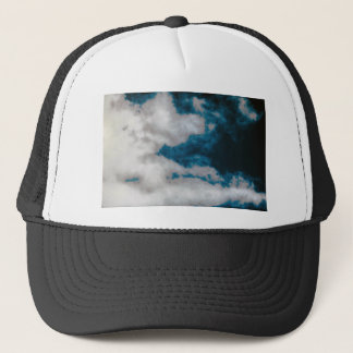 Clouds changing trucker hat