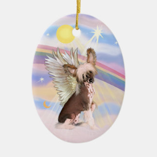 Clouds - Chinese Crested (HL) Ceramic Ornament