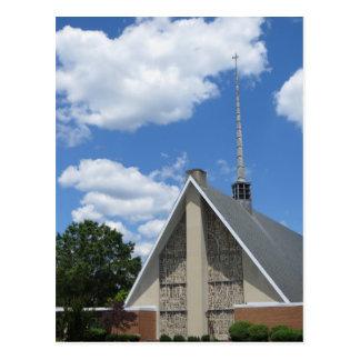 Clouds & Church Postcard