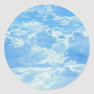 Clouds Classic Round Sticker