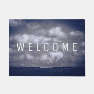 Clouds Custom WELCOME Blue Door Mat