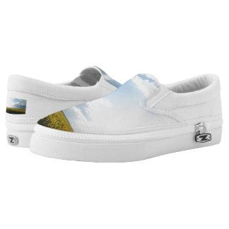 Clouds Custom Zipz Slip On Shoes,  Men & Women