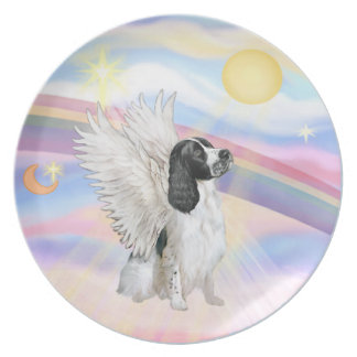 Clouds - English Springer Spaniel Plate