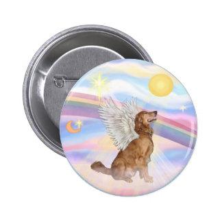 Clouds - Golden Retriever Angel (profile) 2 Inch Round Button