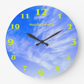 Clouds image for Round-Large-Wall-Clock Large Clock