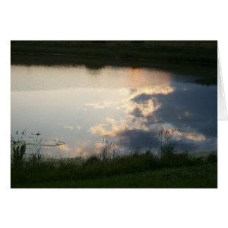 Clouds in Pond Card