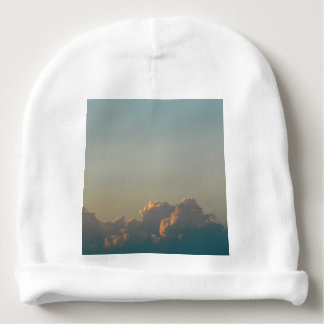 clouds in romania baby beanie