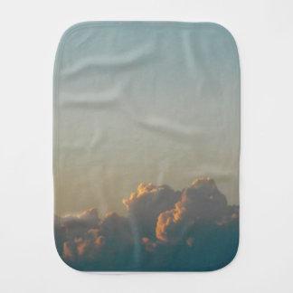 clouds in romania burp cloth