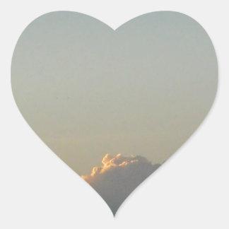clouds in romania heart sticker