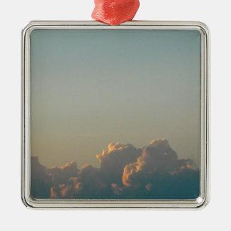 clouds in romania metal ornament