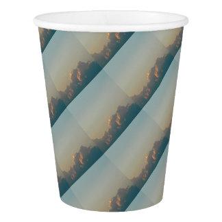 clouds in romania paper cup