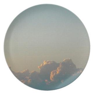 clouds in romania plate