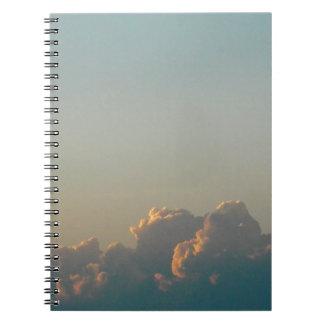 clouds in romania spiral notebook