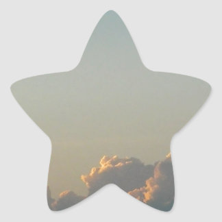 clouds in romania star sticker