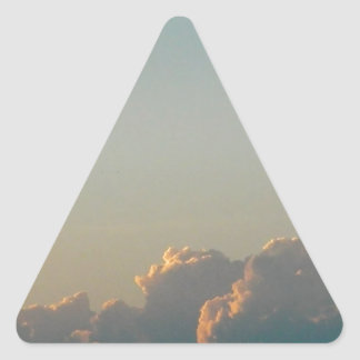 clouds in romania triangle sticker